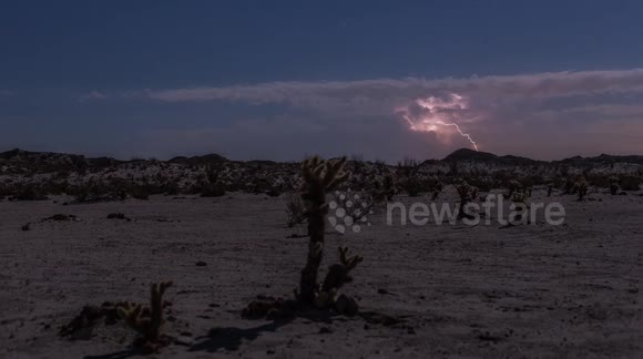 Timelapse of impressive storm over California state park