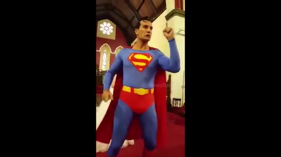 'Superman' saves wedding ceremony after best man 'forgets' rings