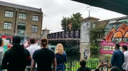 West Ham fans jump from bridge in to canal after winning 1-0