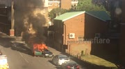 Car explodes in Hoxton, London