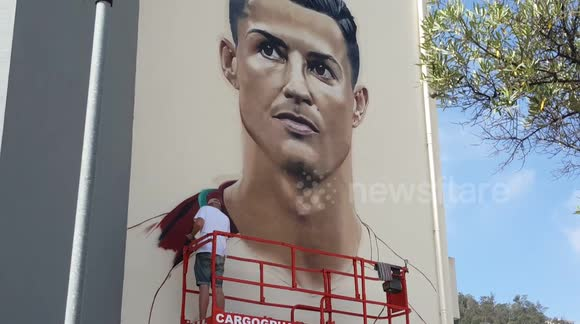 Cristiano ronaldo wall mural entertainment arts for Cristiano ronaldo wall mural