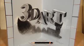 Newsflare - Art in 3D, Drawing a Hunting Eagle, by Vamos