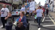 Dorchester hospital chidrens ward closure march