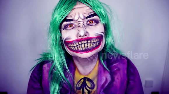 Newsflare It Pennywise The Clown Sfx Glam Makeup Tutorial - Joker-makeup-tutorial
