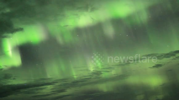 Beautiful timelapse footage of northern lights in Iceland