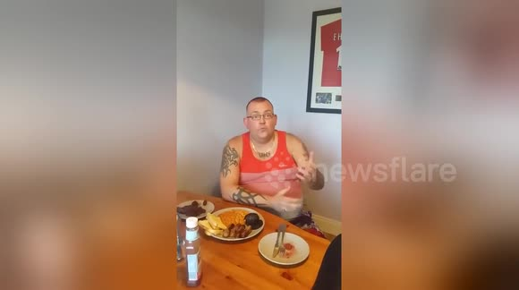 British man eats wife's placenta with English breakfast