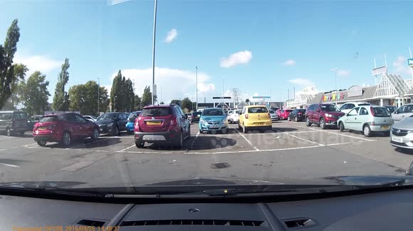 Oblivious driver takes up two spaces in parking fail