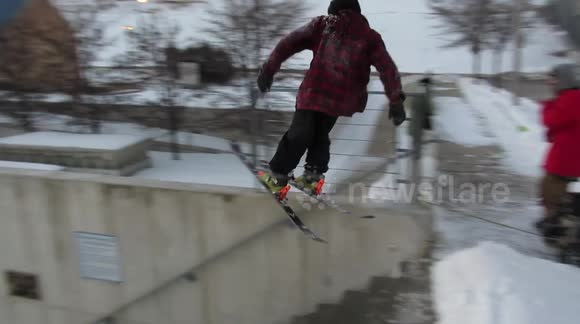 This is why urban skiing is sometimes a bad idea