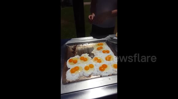 Aussie barbecuers stunned by 18 double-yolked eggs