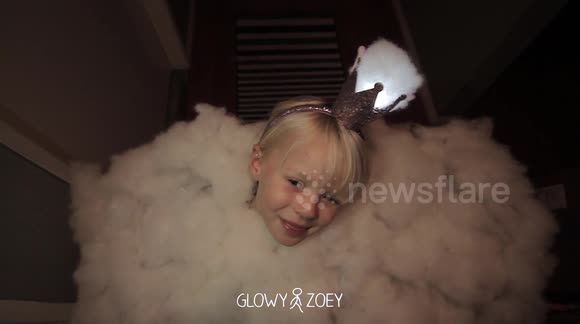Father turns daughter into giant thunderstorm for Halloween