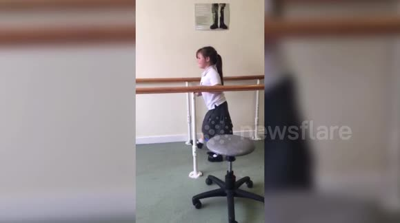 Girl who had leg amputated after suffering horrific burns walks for the first time