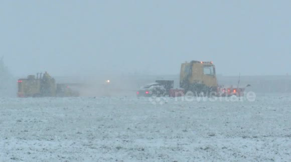 Snow clearance at Leeds-Bradford Airport