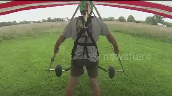 Newsflare - Hang Gliding scooter tow crash