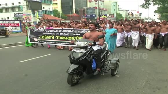 Newsflare - Over 100 Half-Naked Men Protest Against -7553