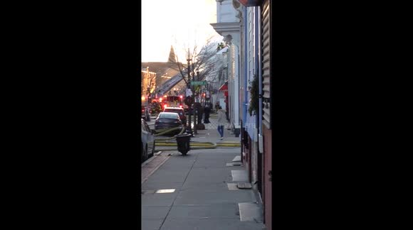 Nearby Firemen Fight Blaze in Charlestown