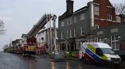 Six rescued as Acton pub gutted by fire.