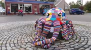 Unusual 2016 - Giant knitted Octopus made by community effort