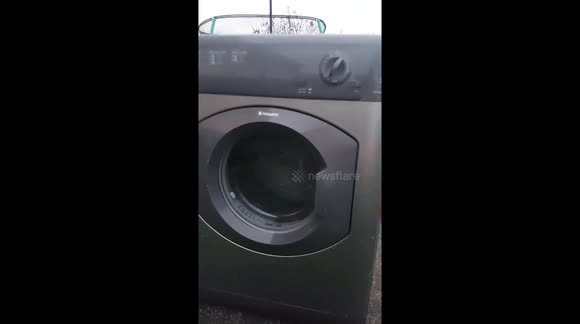 HOTPOINT TUMBLE DRYER CATCHES FIRE