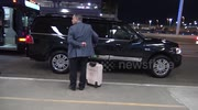 Katie Holmes is spotted as she flies out of LAX Airport on the night if the Golden Globes in Los Angeles, Ca
