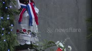 Manneke Pis gets new Croatian outfit